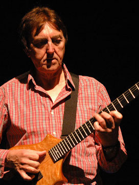 Allan Holdsworth playing his Canton Custom Instrument